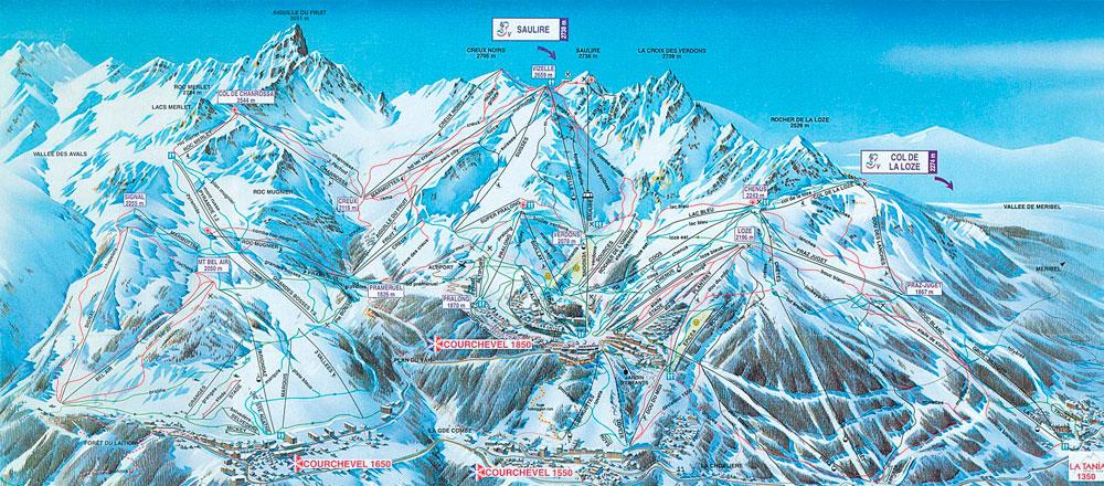 Склоны Лыжи Направления