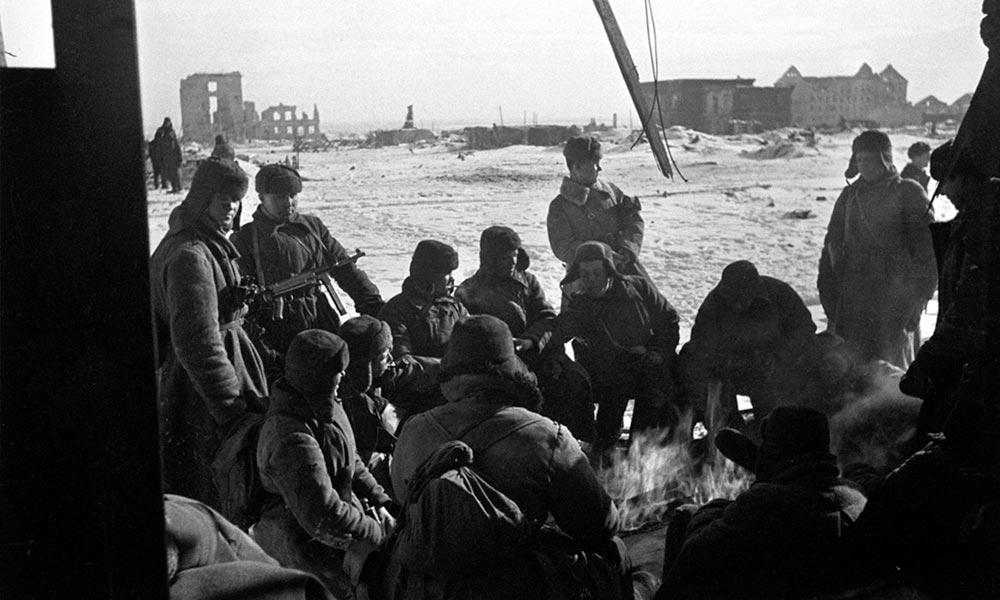 Сталинградская битва. Бойцы отдыхают между боями. Фото: РИА Новости