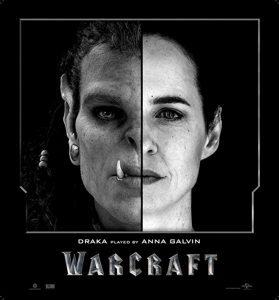 Актеры фильма «Warcraft» сравнение с героями